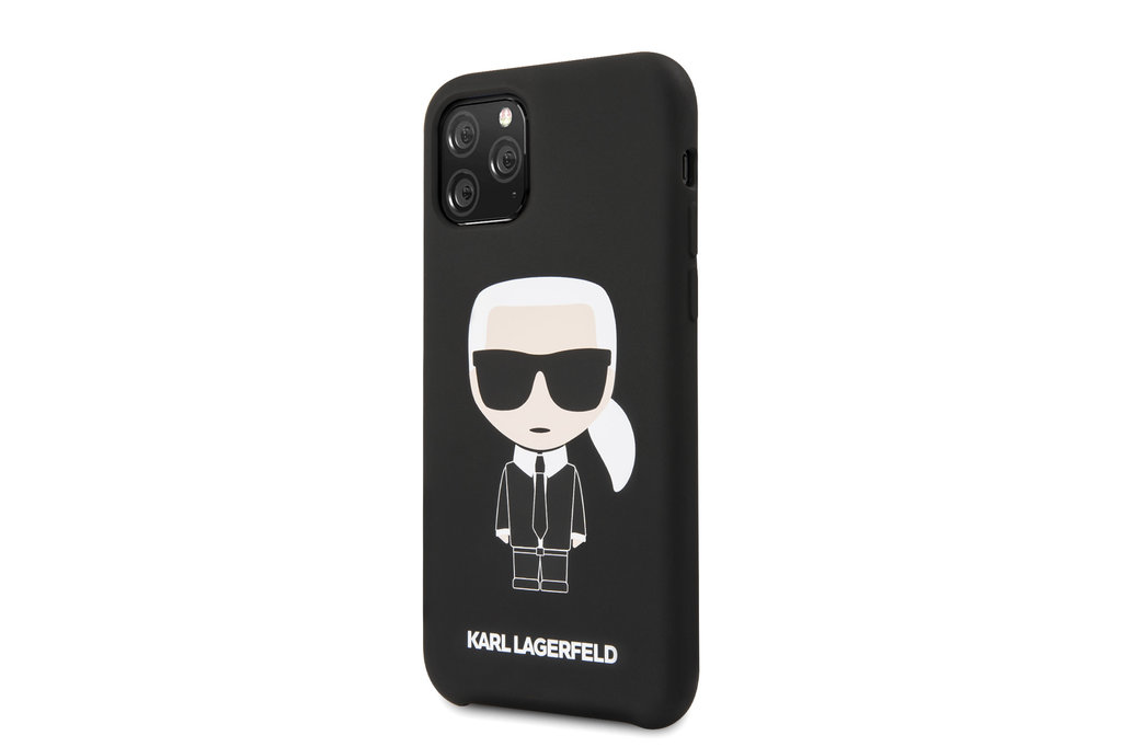 Karl Lagerfeld Apple iPhone 11 Pro Max Karl Lagerfeld Back cover coque Iconic Noir - Full Body