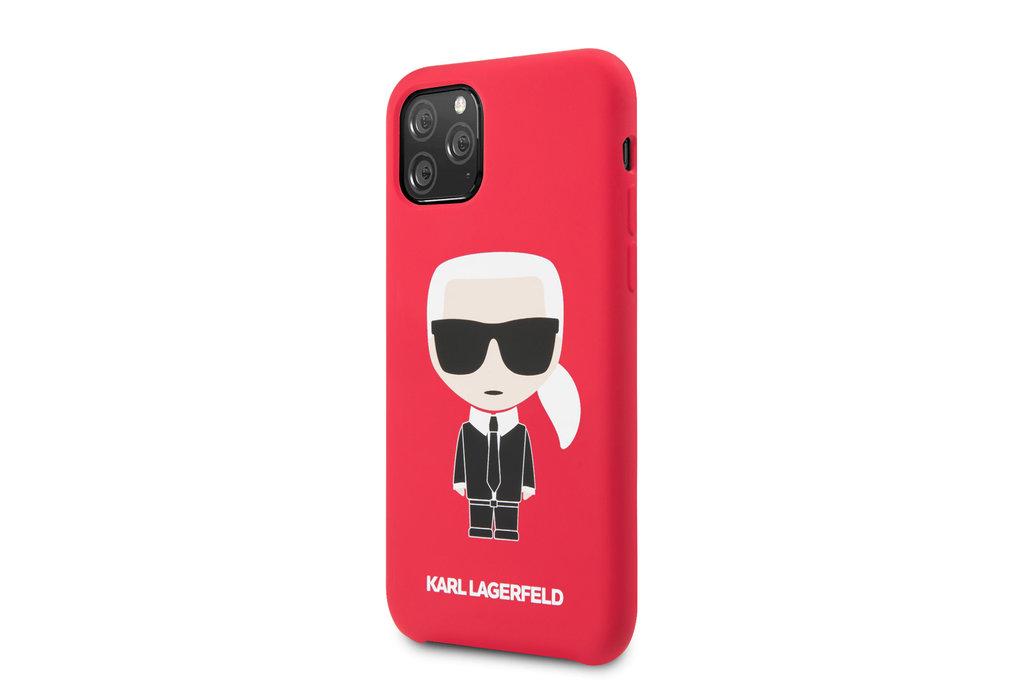 Karl Lagerfeld Apple iPhone 11 Pro Max Rood Karl Lagerfeld Backcover hoesje Iconic - Full Body - KLHCN65SLFKRE