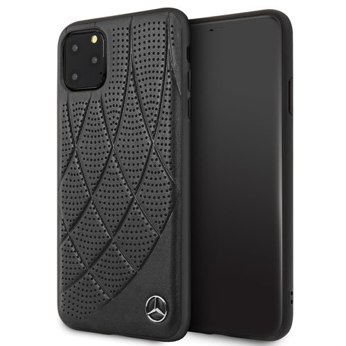 Mercedes-Benz Apple iPhone 11 Pro Max Mercedes-Benz Back cover case Quilted Perf Black for iPhone 11 Pro Max Genuine Leather