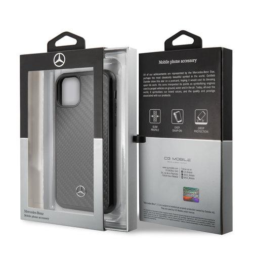 Mercedes-Benz Apple iPhone 11 Pro Max Mercedes-Benz Back cover coque Carbon fiber Noir - Carbon