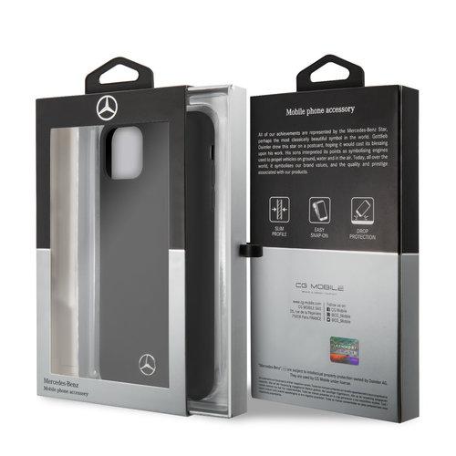 Mercedes-Benz Apple iPhone 11 Pro Max Mercedes-Benz Back cover coque Liquid Noir - Microfiber