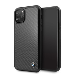 Apple iPhone 11 Pro BMW Back cover case Signature Black for iPhone 11 Pro Real Carbon