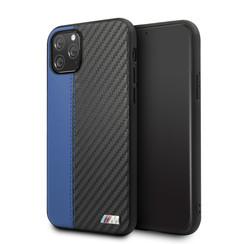 Apple iPhone 11 Pro BMW Back-Cover hul PU Leather Blau -Contrast Strip - TPU;kunstleder