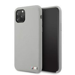 Apple iPhone 11 Pro BMW Back-Cover hul Silicone Grau -Logo M - TPU;kunstleder
