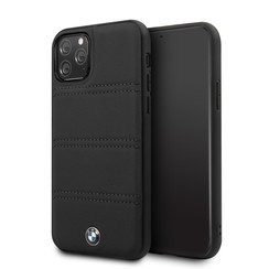 Apple iPhone 11 Pro BMW Back-Cover hul Signature Schwarz -Real Leather - TPU;kunstleder