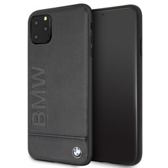 Apple iPhone 11 Pro Max BMW Back-Cover hul Signature Schwarz -Logo Imprint - TPU;kunstleder