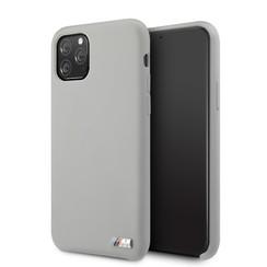 Apple iPhone 11 Pro Max BMW Back-Cover hul Silicone Grau -Logo M - TPU;kunstleder