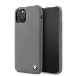 Apple iPhone 11 Pro Max BMW Back-Cover hul Signature Grau -Silicone - TPU;kunstleder