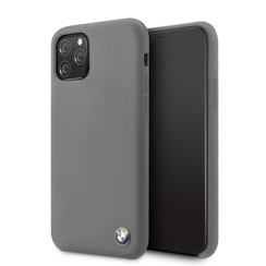 Apple iPhone 11 Pro Max Grijs BMW Backcover hoesje Signature - Silicone - BMHCN65SILDG