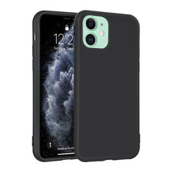 Apple iPhone 11 Andere merken Back cover case Silicone Black for iPhone 11 Soft Touch