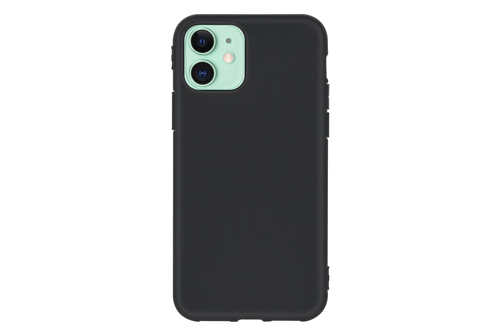 Andere merken Apple iPhone 11 Zwart Backcover hoesje Silicone - Soft Touch
