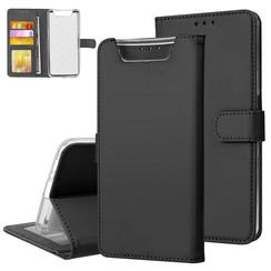 Samsung Galaxy A80 Zwart Booktype hoesje Pasjeshouder - Magneetsluiting