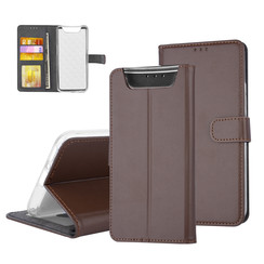 Samsung Galaxy A80 type case Card holder Brown - Magnetic closure