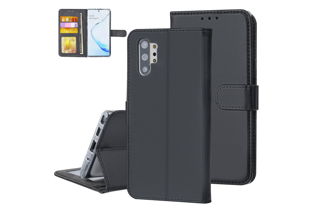 Andere merken Samsung Galaxy Note 10 Plus Zwart Booktype hoesje Pasjeshouder - Magneetsluiting