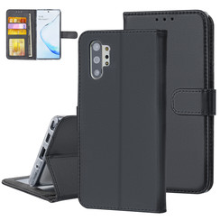 Samsung Galaxy Note 10 Plus Book type case Card holder Black - Magnetic closure