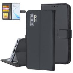 Samsung Galaxy Note 10 Plus Zwart Booktype hoesje Pasjeshouder - Magneetsluiting