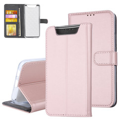 Samsung Galaxy A80 Book type case Card holder Rose Gold - Magnetic closure