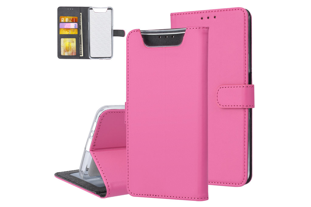 Andere merken Samsung Galaxy A80 Andere merken Book type case Card holder Hot Pink for Galaxy A80 Magnetic closure