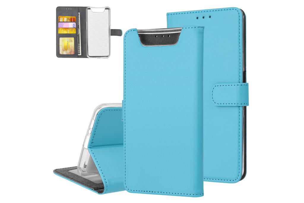 Andere merken Samsung Galaxy A80 Andere merken Book type housse Titulaire de la carte Bleu - Fermeture magnétique
