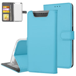 Samsung Galaxy A80 Andere merken Book type case Card holder Blue for Galaxy A80 Magnetic closure