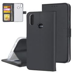Samsung Galaxy A10s Zwart Booktype hoesje Pasjeshouder - Magneetsluiting