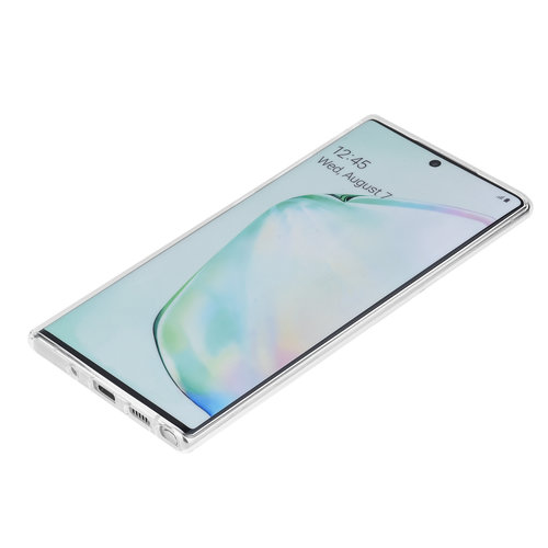 Andere merken Samsung Galaxy Note 10 Plus Transparant Backcover hoesje Silicone - Soft Touch