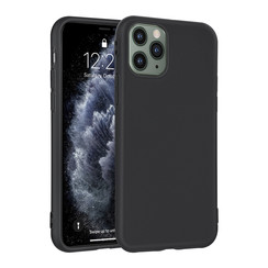 Apple iPhone 11 Pro Max Andere merken Back cover case Silicone Black for iPhone 11 Pro Max Soft Touch