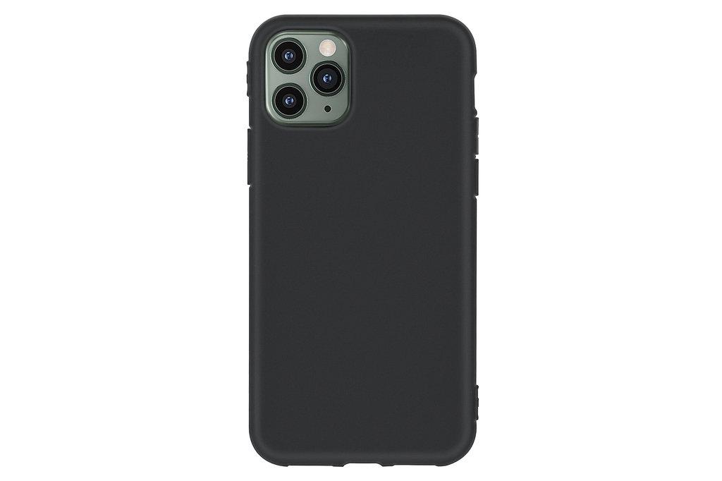 Andere merken Apple iPhone 11 Pro Max Zwart Backcover hoesje Silicone - Soft Touch