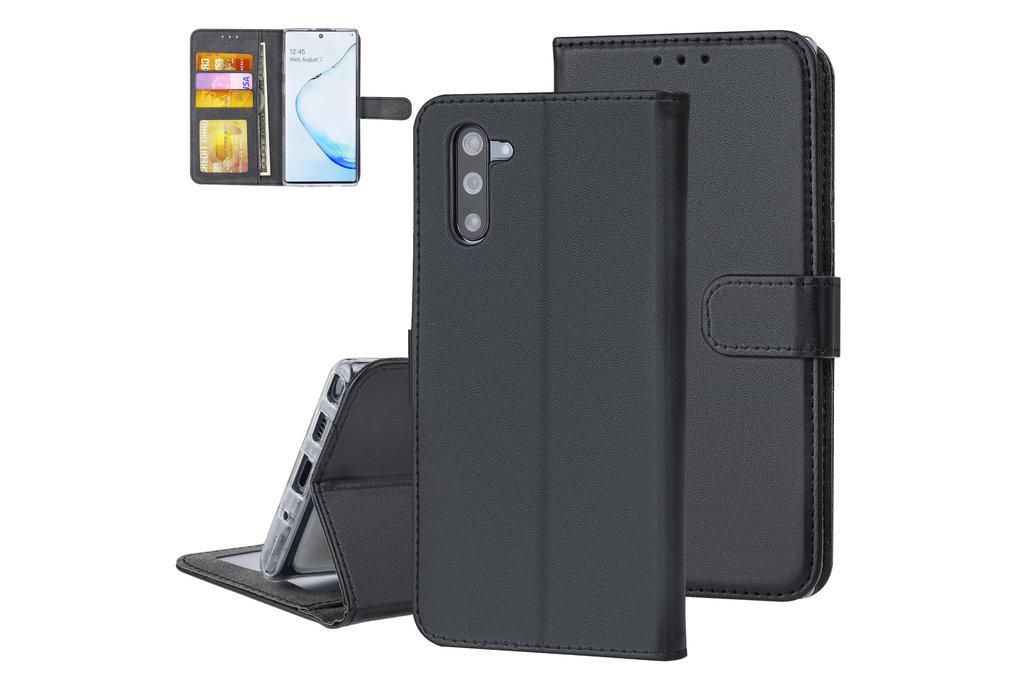 Andere merken Samsung Galaxy Note 10 Andere merken Book type case Card holder Black for Galaxy Note 10 Magnetic closure