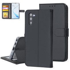 Samsung Galaxy Note 10 Andere merken Book type case Card holder Black for Galaxy Note 10 Magnetic closure