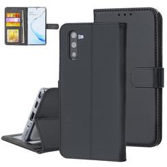 Samsung Galaxy Note 10 Andere merken Book type housse Titulaire de la carte Noir - Fermeture magnétique