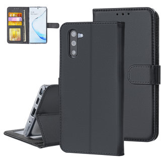 Samsung Galaxy Note 10 Zwart Booktype hoesje Pasjeshouder - Magneetsluiting