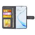 Andere merken Samsung Galaxy Note 10 Zwart Booktype hoesje Pasjeshouder - Magneetsluiting