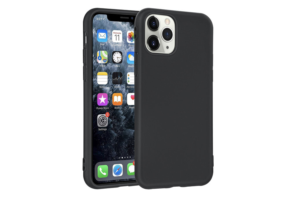 Andere merken Apple iPhone 11 Pro Andere merken Back cover case Silicone Black for iPhone 11 Pro Soft Touch