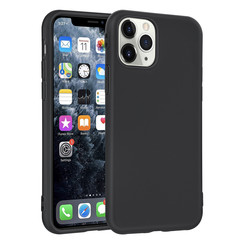 Apple iPhone 11 Pro Andere merken Back cover case Silicone Black for iPhone 11 Pro Soft Touch