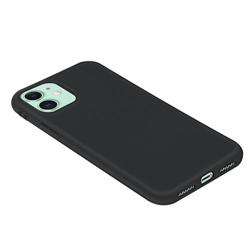 Andere merken Apple iPhone 11 Andere merken Back cover case Silicone Black for iPhone 11 Soft Touch