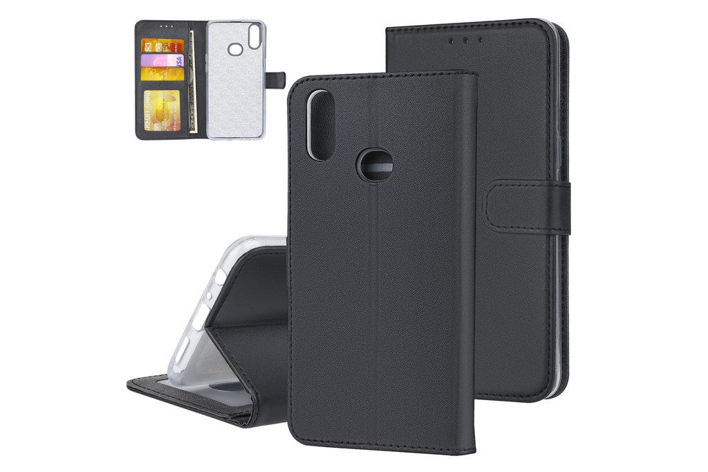 Andere merken Samsung Galaxy A10s Andere merken Book type housse Titulaire de la carte Noir - Fermeture magnétique