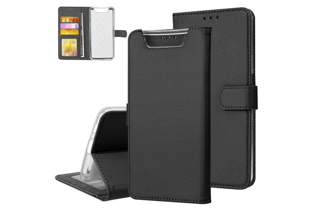 Andere merken Samsung Galaxy A80 Andere merken Book type case Card holder Black for Galaxy A80 Magnetic closure