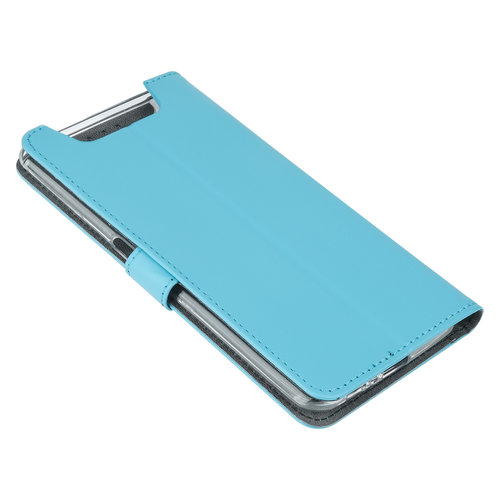 Andere merken Samsung Galaxy A80 Blauw Booktype hoesje Pasjeshouder - Magneetsluiting