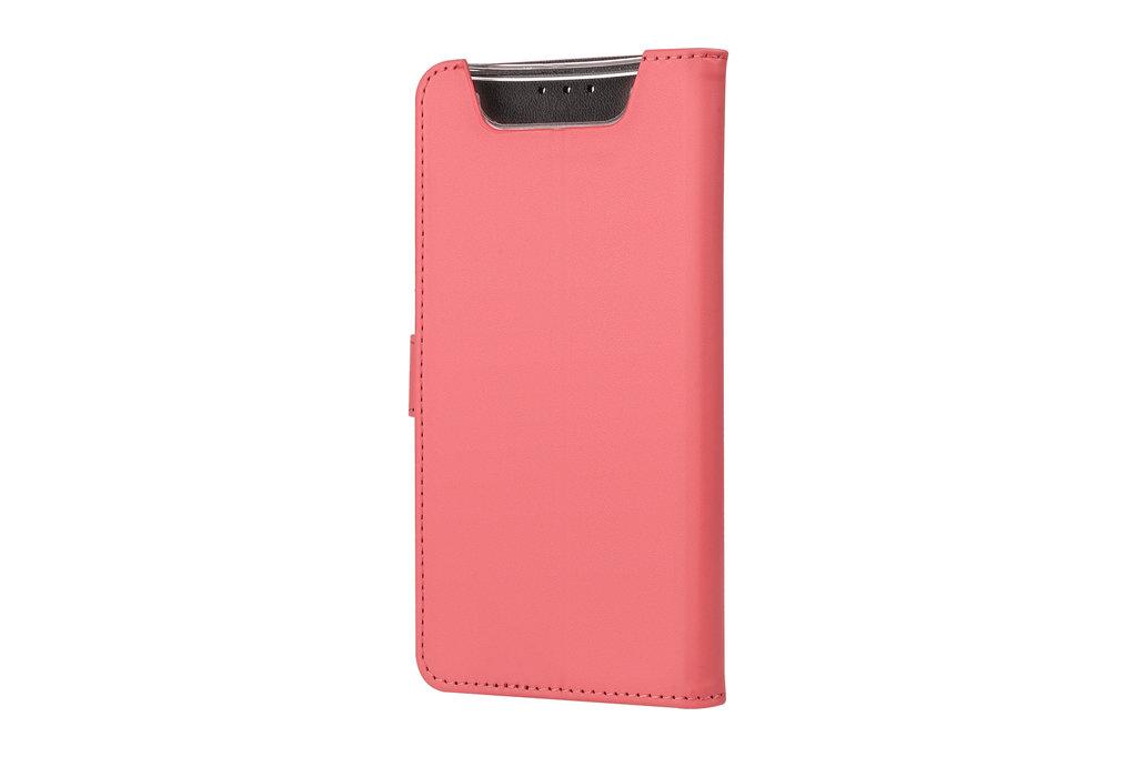 Andere merken Samsung Galaxy A80 Rood Booktype hoesje Pasjeshouder - Magneetsluiting