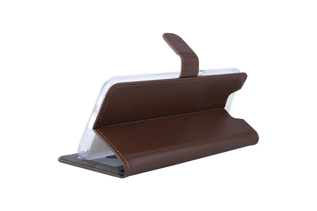 Andere merken Samsung Galaxy A80 Andere merken Book type case Card holder Brown for Galaxy A80 Magnetic closure