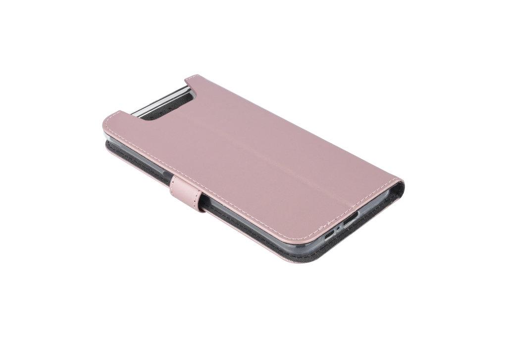 Andere merken Samsung Galaxy A80 Andere merken Book type housse Titulaire de la carte Rose Or - Fermeture magnétique