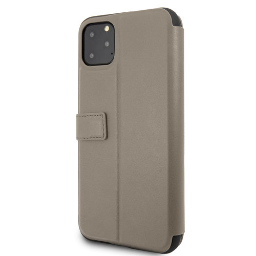 Mercedes-Benz Apple iPhone 11 Pro Max Mercedes-Benz Book type case Quilted Perf Brown for iPhone 11 Pro Max Genuine Leather