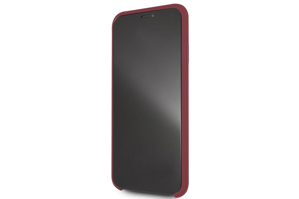 Mercedes-Benz Apple iPhone 11 Pro Max Rood Mercedes-Benz Backcover hoesje Liquid - Microfiber - MEHCN65SILRE