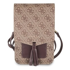 Wallet universal telephone bag with strap - Brown