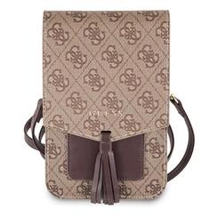 Wallet universeel telefoontas met strap - Bruin