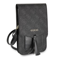 Wallet universal telephone bag with strap - Black