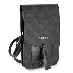 Wallet universeel telefoontas met strap - Zwart