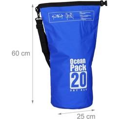 Waterdicgt Drogzaak 20 liter Blauw