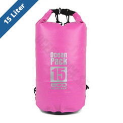 Waterdicht Dry Bag 15 liter Roos
